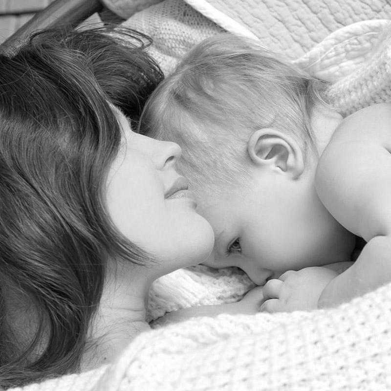 Mother and newborn child